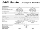 Comparative table MB35 and MB45