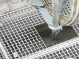 Ready installed OLAS in a concrete residual bassin [2]